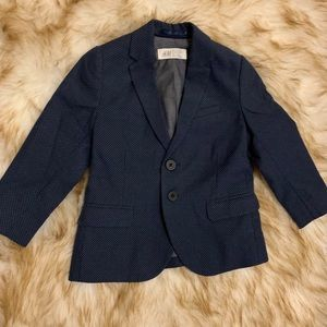 H&M 1.5-2T Navy with white dots blazer-LIKE NEW